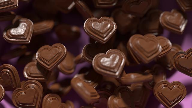 heart chocolates photo